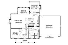Colonial Floor Plan - Main Floor Plan Plan #1010-50