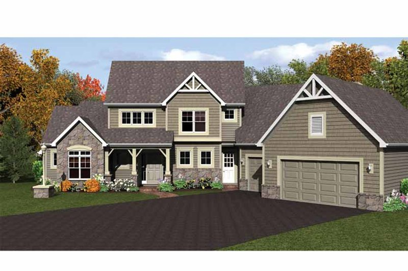 Colonial Exterior - Front Elevation Plan #1010-17 - Houseplans.com