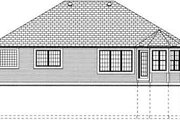 Country Style House Plan - 3 Beds 2 Baths 1546 Sq/Ft Plan #126-128 Exterior - Rear Elevation