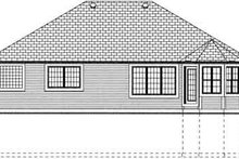 Country Exterior - Rear Elevation Plan #126-128