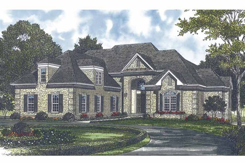 Traditional Exterior - Front Elevation Plan #453-562 - Houseplans.com