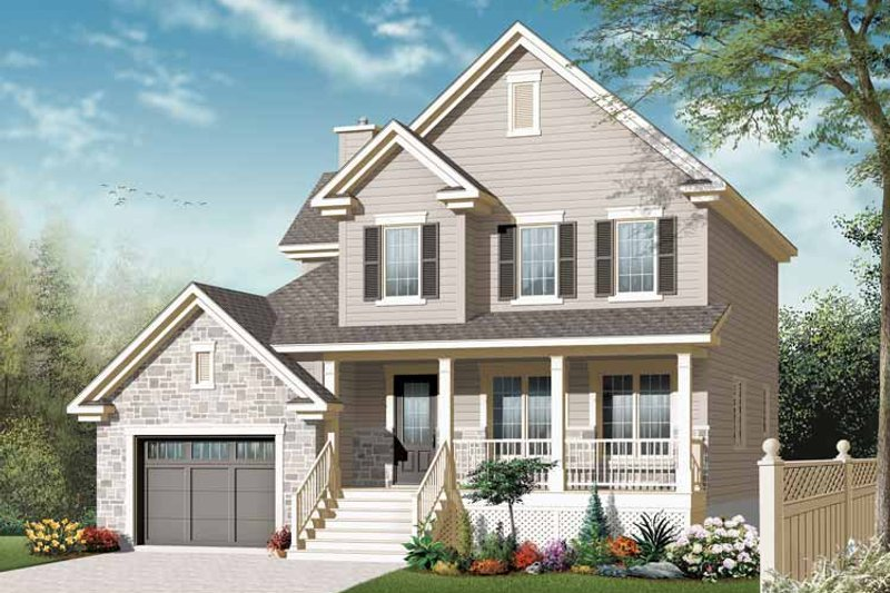 Country Exterior - Front Elevation Plan #23-2542 - Houseplans.com