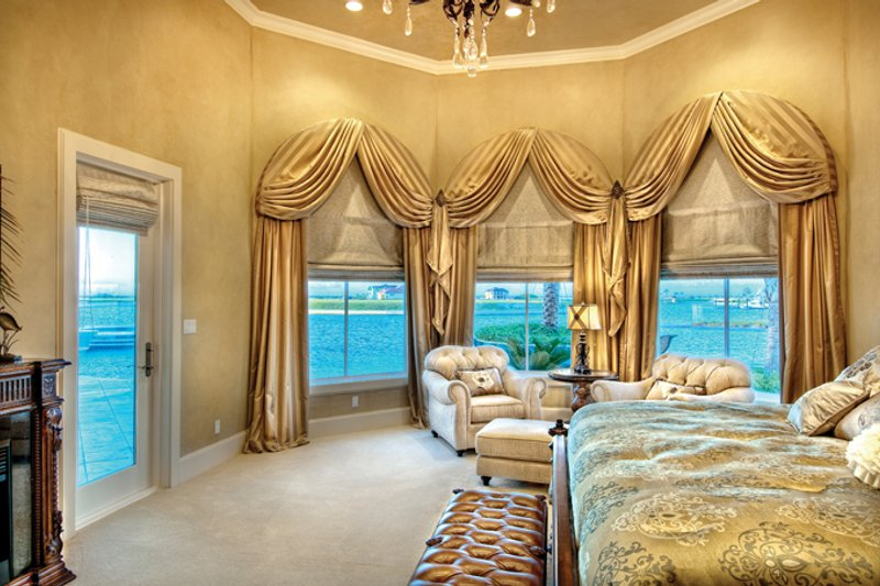 Mediterranean Interior - Master Bedroom Plan #930-442 - Houseplans.com
