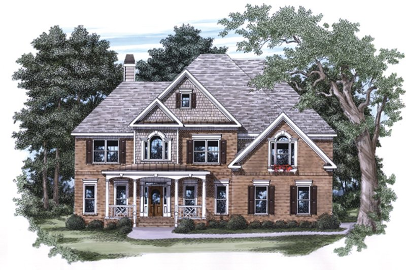 Victorian Exterior - Front Elevation Plan #927-542