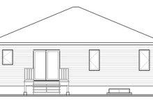 Home Plan - Contemporary Exterior - Rear Elevation Plan #23-2576