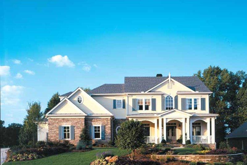 Colonial Exterior - Front Elevation Plan #429-313 - Houseplans.com