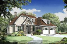 European Exterior - Front Elevation Plan #929-913