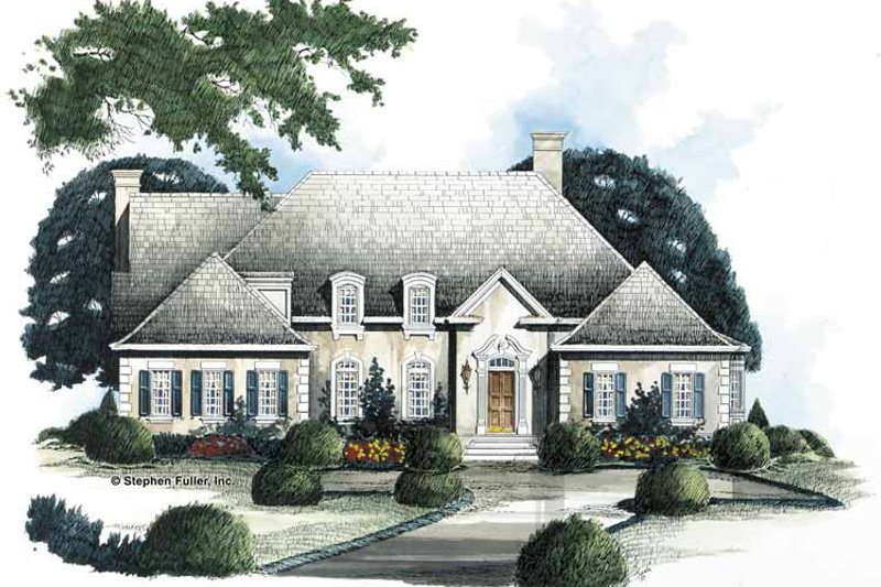 House Plan Design - Country Exterior - Front Elevation Plan #429-148