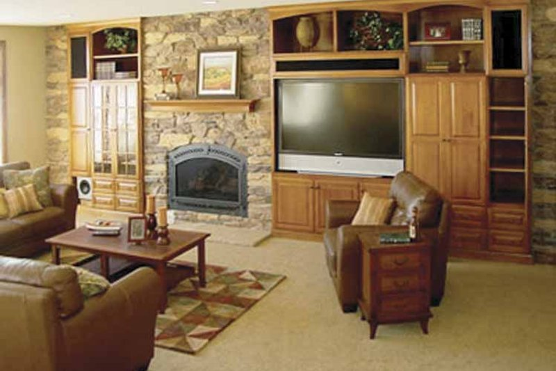 European Interior - Family Room Plan #320-994 - Houseplans.com