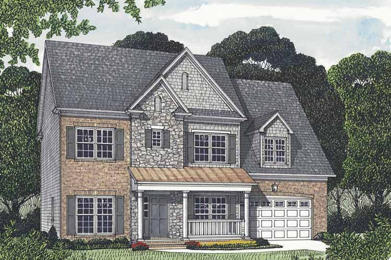 Dream House Plan - Traditional Exterior - Front Elevation Plan #453-551