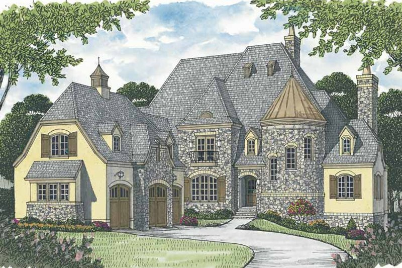 European Exterior - Front Elevation Plan #453-603 - Houseplans.com