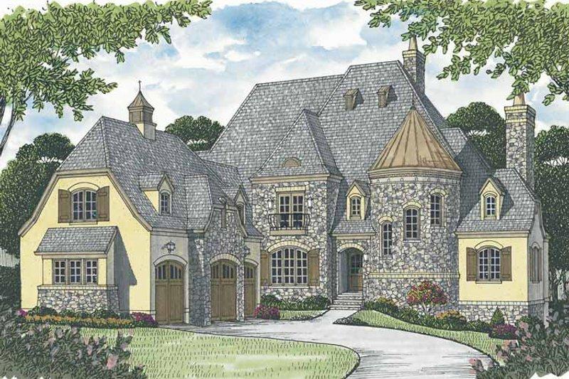 Architectural House Design - European Exterior - Front Elevation Plan #453-603