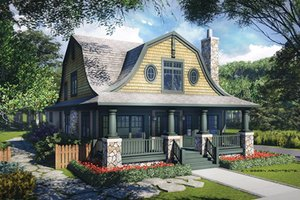 Colonial Exterior - Front Elevation Plan #928-241