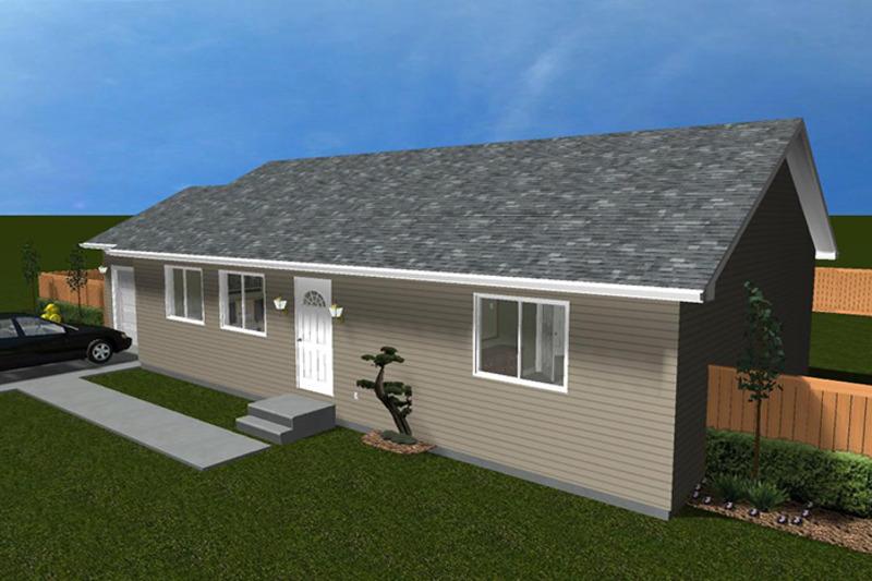 Ranch Exterior - Front Elevation Plan #1060-3 - Houseplans.com