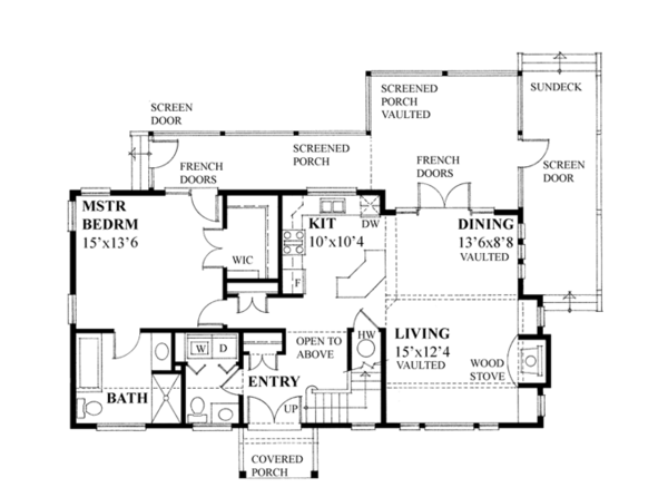 Country Floor Plan - Main Floor Plan Plan #118-164