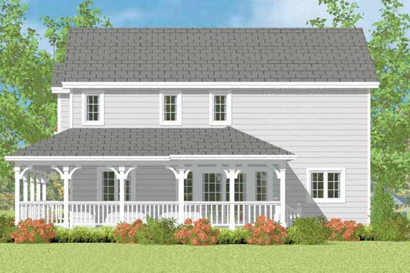 House Blueprint - Victorian Exterior - Other Elevation Plan #72-1110