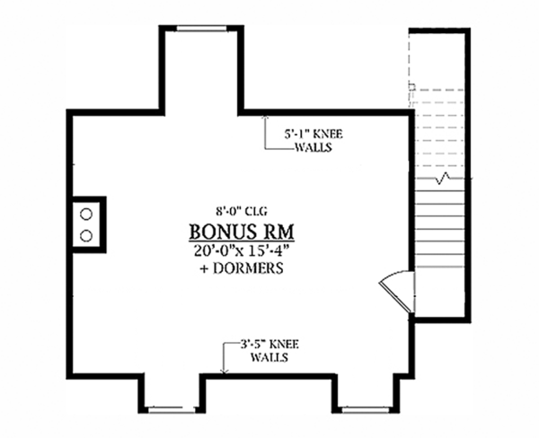 Craftsman Floor Plan - Upper Floor Plan Plan #314-279