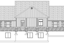 Home Plan - Ranch Exterior - Rear Elevation Plan #1060-23