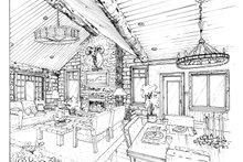 Home Plan - Log Interior - Family Room Plan #942-18
