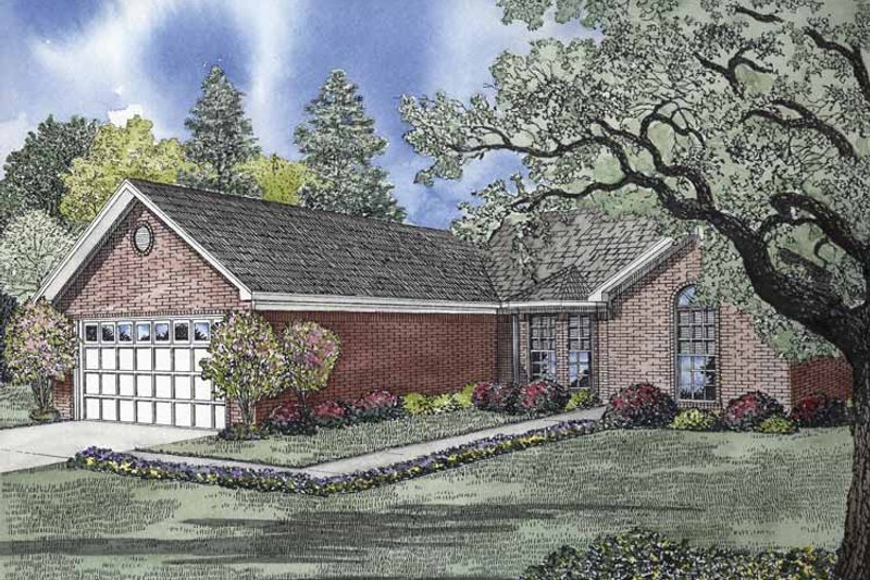 Ranch Exterior - Front Elevation Plan #17-2838 - Houseplans.com