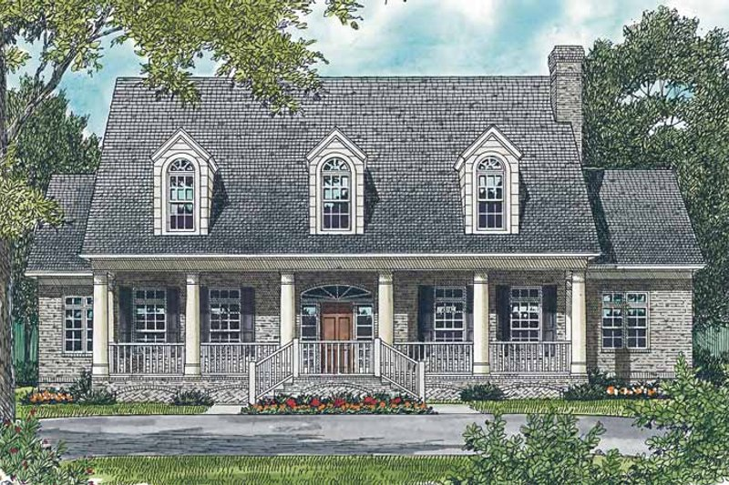 Classical Exterior - Front Elevation Plan #453-427