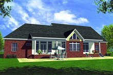 Home Plan - Traditional Exterior - Rear Elevation Plan #21-116
