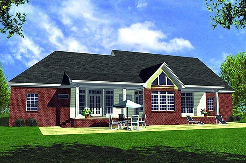 Traditional Exterior - Rear Elevation Plan #21-116 - Houseplans.com