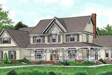 Architectural House Design - Country Exterior - Front Elevation Plan #11-233