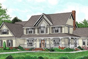 Country Exterior - Front Elevation Plan #11-233