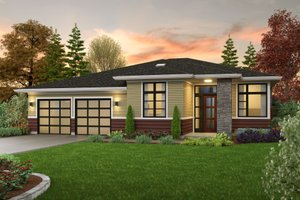 Contemporary Exterior - Front Elevation Plan #48-1040