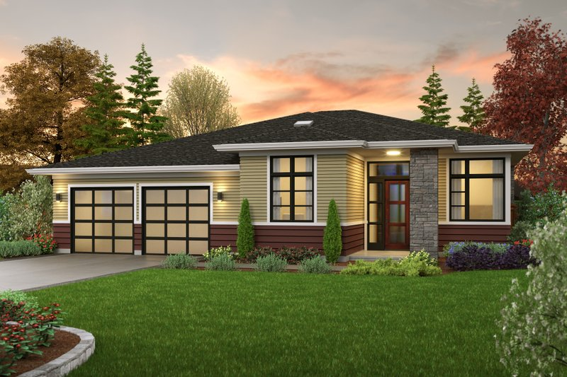 Home Plan - Contemporary Exterior - Front Elevation Plan #48-1040
