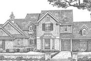 European Style House Plan - 3 Beds 2.5 Baths 2168 Sq/Ft Plan #310-321 Exterior - Front Elevation
