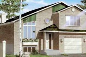 Modern Exterior - Front Elevation Plan #25-341