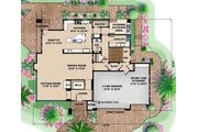 Modern Style House Plan - 5 Beds 5.5 Baths 7766 Sq/Ft Plan #27-533 Floor Plan - Main Floor Plan