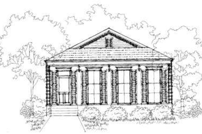 European Style House Plan - 3 Beds 2 Baths 1670 Sq/Ft Plan #325-184 Exterior - Front Elevation