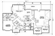 European Style House Plan - 6 Beds 4 Baths 2602 Sq/Ft Plan #5-363 Floor Plan - Main Floor Plan