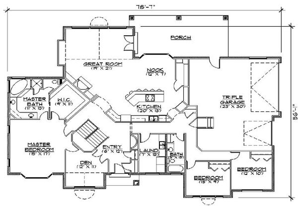 European Floor Plan - Main Floor Plan Plan #5-363