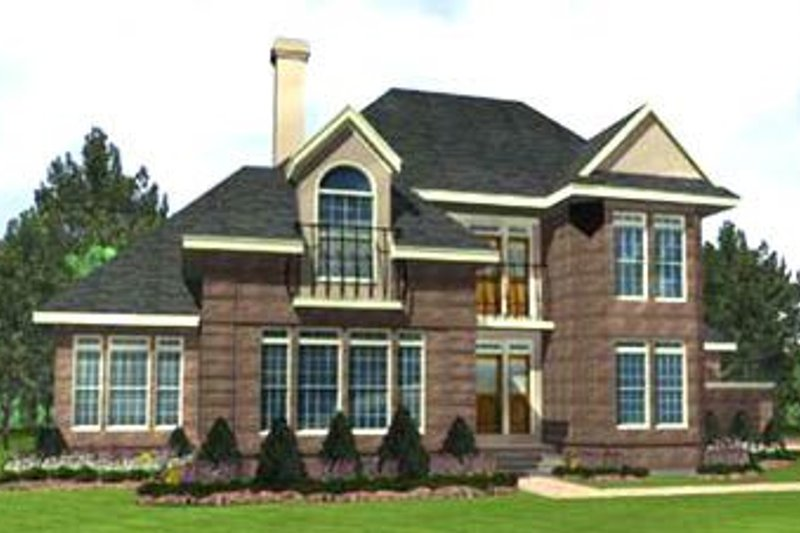 European Exterior - Front Elevation Plan #45-209