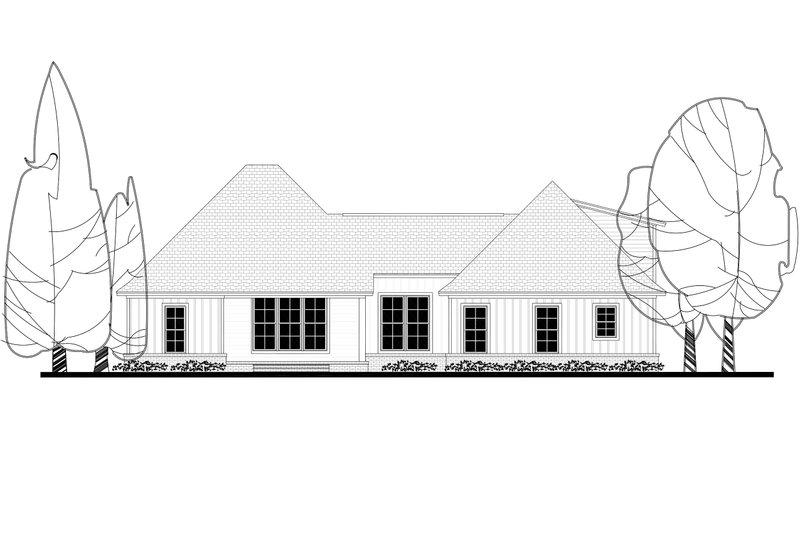 Craftsman Exterior - Rear Elevation Plan #430-157 - Houseplans.com