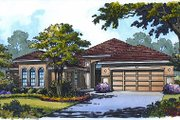 Mediterranean Style House Plan - 4 Beds 3 Baths 2447 Sq/Ft Plan #417-267 Exterior - Front Elevation