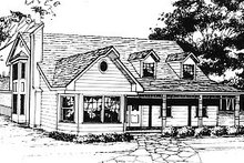 Home Plan - Country Exterior - Front Elevation Plan #14-212