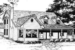 Country Exterior - Front Elevation Plan #14-212