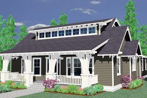 Craftsman Exterior - Front Elevation Plan #509-22