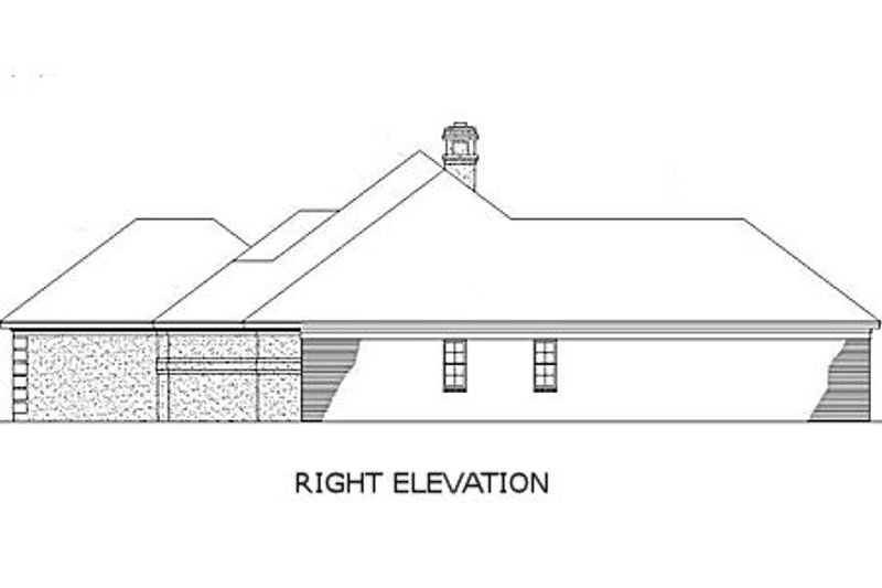 Traditional Exterior - Other Elevation Plan #45-138 - Houseplans.com