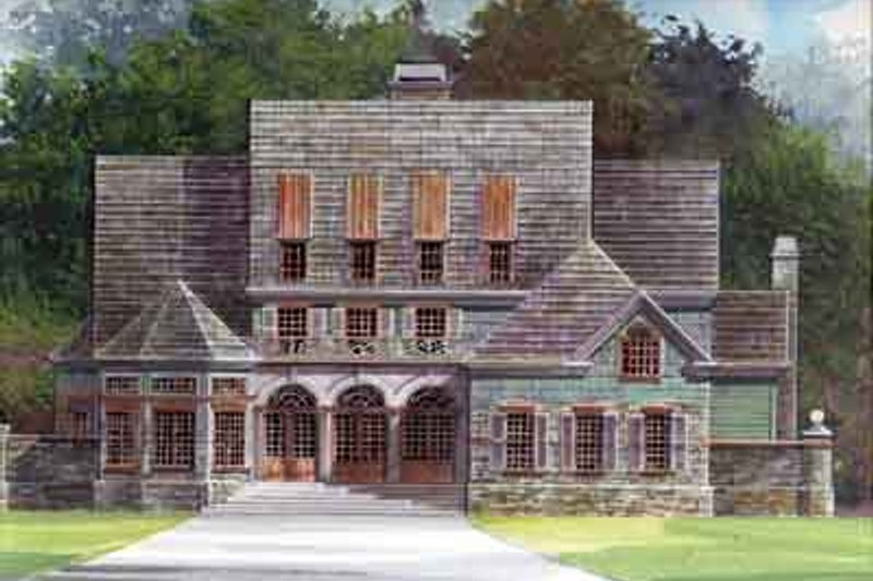 European Style House Plan - 4 Beds 4.5 Baths 3055 Sq/Ft Plan #119-142 Exterior - Front Elevation