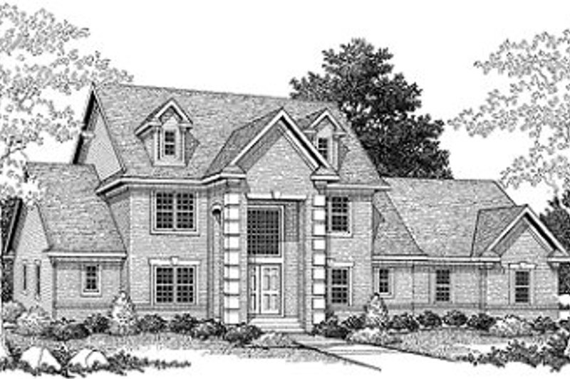 European Exterior - Front Elevation Plan #70-509