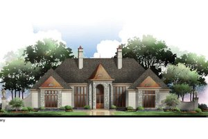 House Plan Design - European Exterior - Front Elevation Plan #119-356