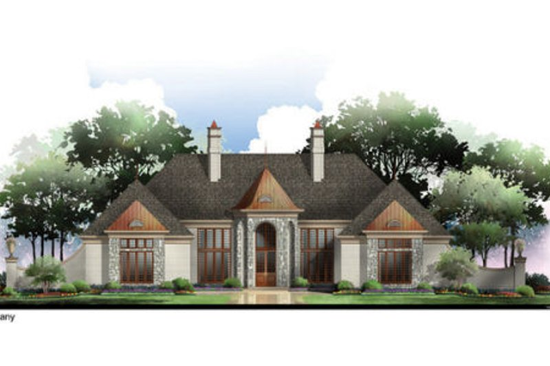 European Exterior - Front Elevation Plan #119-356