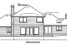 House Design - Traditional Exterior - Rear Elevation Plan #97-220