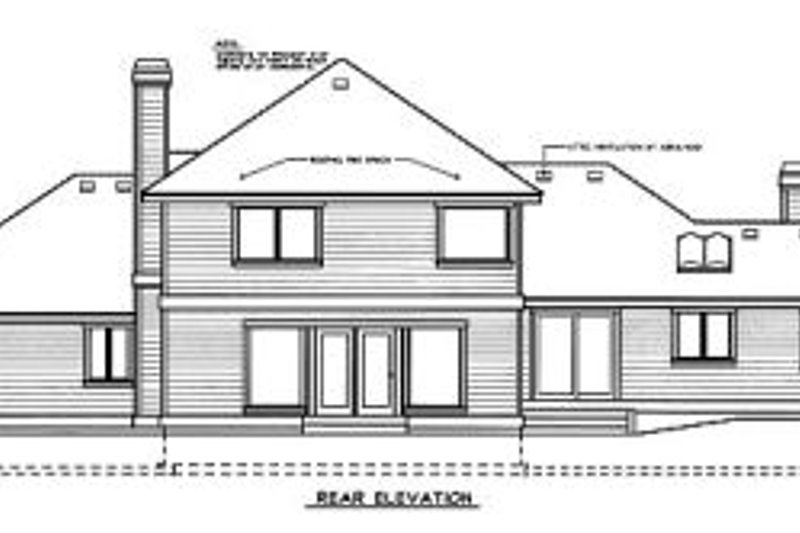 Traditional Exterior - Rear Elevation Plan #97-220 - Houseplans.com